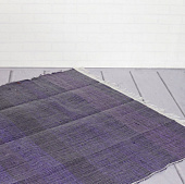 Ковёр из переработанного хлопка, Recycled Cotton Rug Monochrome Purple, Handmade, произв. MYINDIA