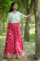 Хлопковая юбка, Cotton Pink Belt Skirt, Handmade, произв. MYINDIA