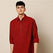 Курта красная, Bijnor Short Kurta Red, произв. MYINDIA