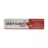 Зубная паста гель Дант Канти Фреш Актив (80 г), Dant Kanti Fresh Active Gel Toothpaste, произв. Patanjali