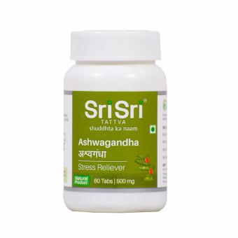 Ашвагандха: для восстановления организма (60 таб), Ashwagandha, произв. Sri Sri Ayurveda