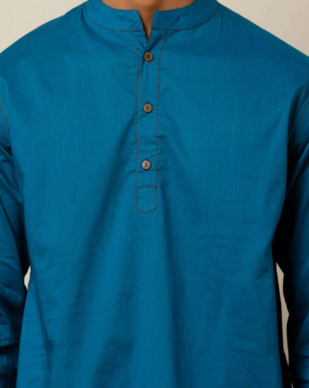 Курта синяя, Bijnor Short Kurta Blue, произв. MYINDIA