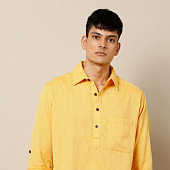 Курта желтая, Bijnor Short Kurta Yellow, произв. MYINDIA
