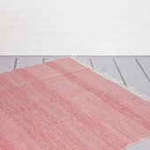 Ковёр из переработанного хлопка, Recycled Cotton Rug Monochrome Lightpink, Handmade, произв. MYINDIA