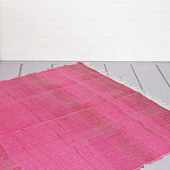 Ковёр из переработанного хлопка, Recycled Cotton Rug Monochrome Bright Pink, Handmade, произв. MYINDIA