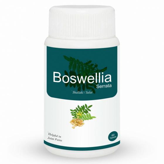 Шаллаки: для суставов (60 таб, 500 мг), Boswellia,  произв. Herb Essential - MyIndia.ru