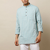 Курта голубая, Bijnor Short Kurta Light Blue, произв. MYINDIA