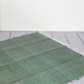 Ковёр из переработанного хлопка, Recycled Cotton Rug Monochrome Green, Handmade, произв. MYINDIA