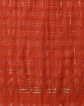 Накидка коралловая, Checked Cotton Dupatta with Zari Border, произв. MYINDIA