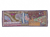Саше лоскутное на кровать, Cotton Bedrunner Indian Decor Embroidered, Handmade, произв. MYINDIA