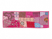 Саше лоскутное на кровать, Cotton Bedrunner Pink Base Patchwork Pattern, Handmade, произв. MYINDIA