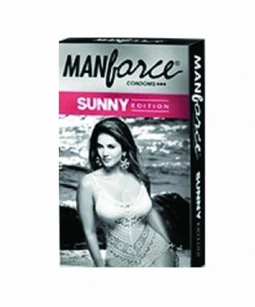 Презервативы Манфорсе 3 в 1 (10 шт.), Ribbed Dotted Shaped 3 in1 Condoms - Sunny Edition, Manforce, 10 pcs